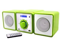 Soundmaster CD/MP3 Micro Music-Centre with USB and Clock Green