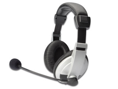 ednet Stereo Multimedia Headset White