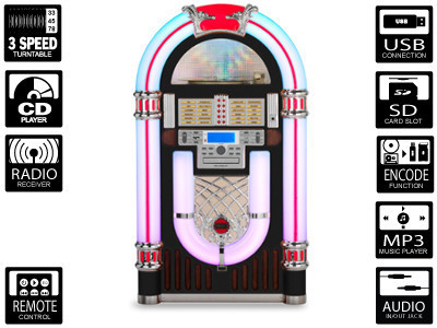 Ricatech RR3000 XXL Retro LED Jukebox